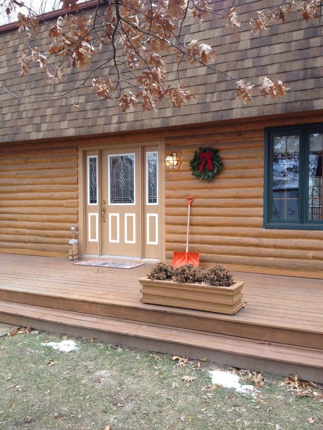 log homes first wreath