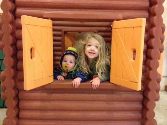 their very own log cabin