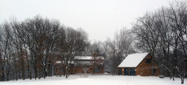 SnowyLogHome