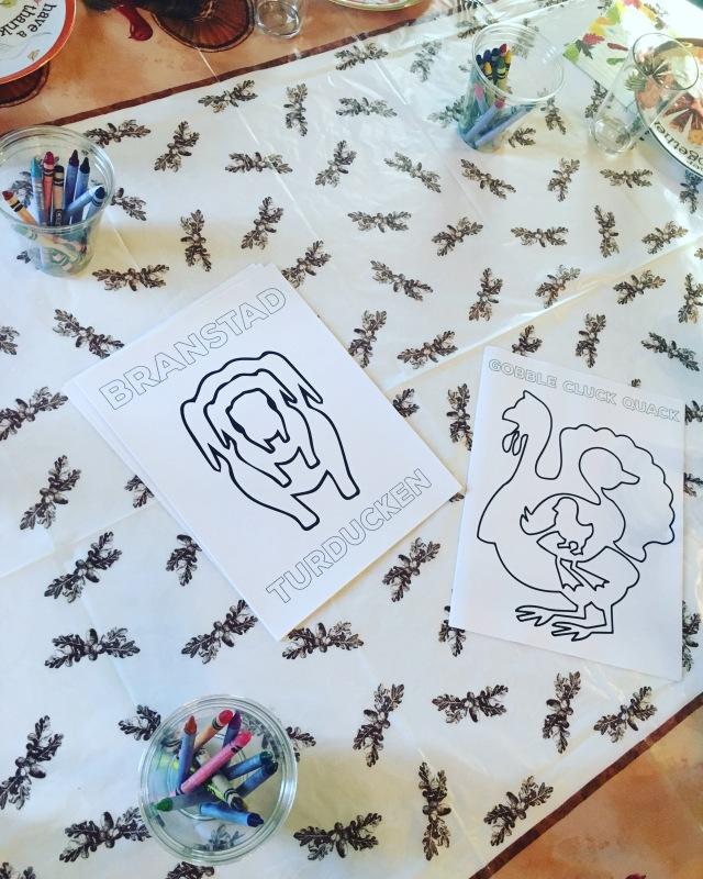 Turducken 2015: coloring sheets