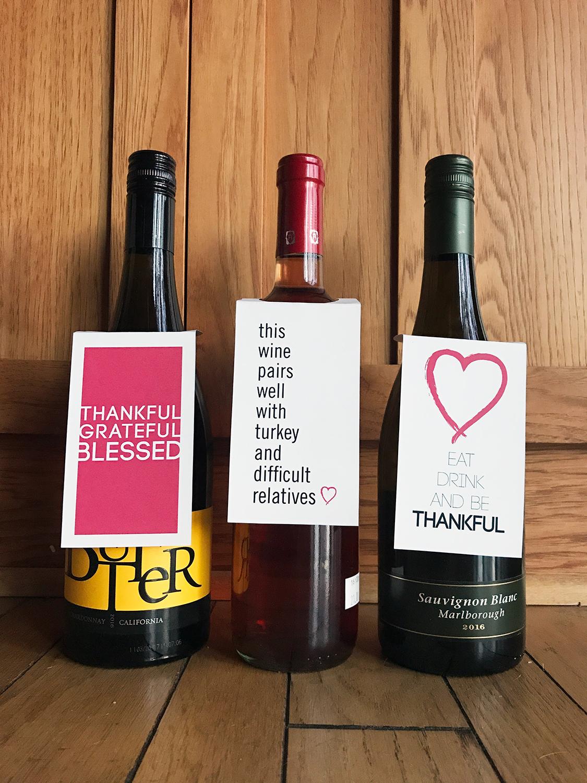 graphic regarding Printable Wine Bottle Tags known as Thanksgiving Printable Wine Bottle Tags Tomorrows Toward Dos